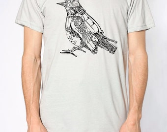 Mens ROBOTIC BIRD T Shirt)Steam Punk Clothing,Mens Graphic Tee,Birthday Gift him-Boyfriend Gift-Mens Tumblr Shirt Graphic Tee Grunge Shirt