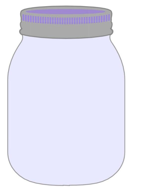 Large Blue & Purple Mason Jar Printable for