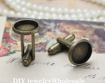 10pcs Cuff Links With 12mm Base Setting