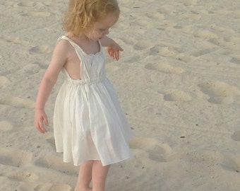 Girls Beach Dress: Grecian Gown in Ivory
