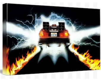 Back To The Future Canvas Art Picture Huge A1 Size 32 X 22 New
