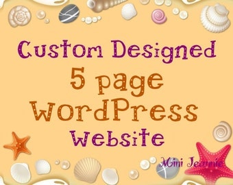 Custom Designed 5 page WordPress website