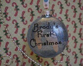 Glitter Ornament for Baby's 1st Christmas
