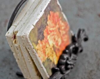 Travertine Coaster Photography Art