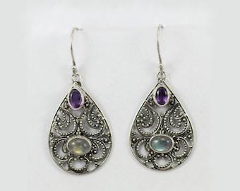 Silver Earrings Bali Style E275