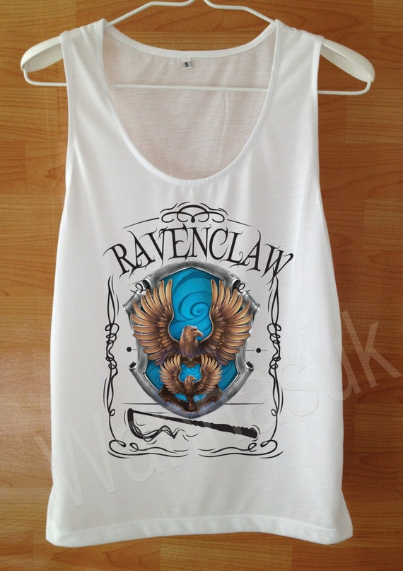 Ravenclaw Spell Tank top Harry Potter Shirt Custom Handmade Screen Print Funny White harry potter Clothing Women Tee Tshirt Shirt S M L