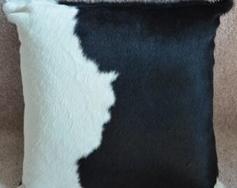 Cowhide Pillow Black & White