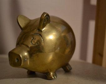 Vintage Gold Piggy Bank