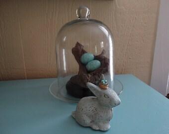 Cast Iron Bunny, home decor, door stop, Shabby Chic Decor, Cottage Decor, shelf, table top decor