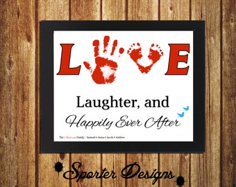 Handprint Wall Art- Customized  - DIY - Digital