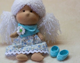 Dressed Doll PATTERN Lily crochet and sewing waldorf doll