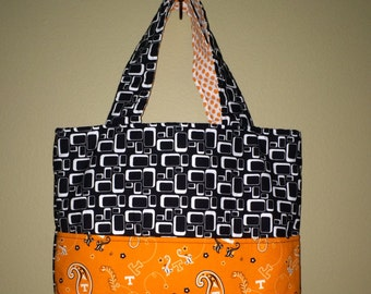 Medium Tote using Tennessee Volunteers Fabric