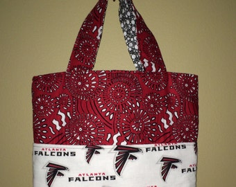 Medium Tote using Atlanta Falcons Fabric