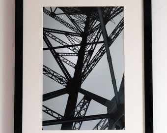 Steel Tower, Black and White Photography