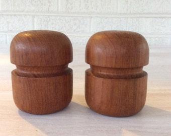 Danish Modern Teak Salt and Pepper Set