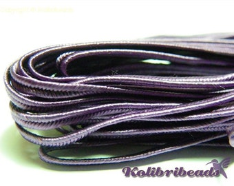 1x 3m Czech Soutache Braid 3 mm Purple