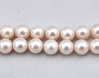 1 Strand 29pcs 14mm Freshwater Pearl, Pale pink Pearl Beads,14mm Pearl,Shell pearl has,Gemstone Beads--- J0096