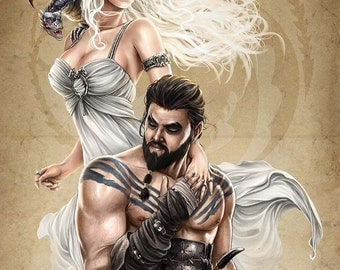 Khaleesi and Drogo Print