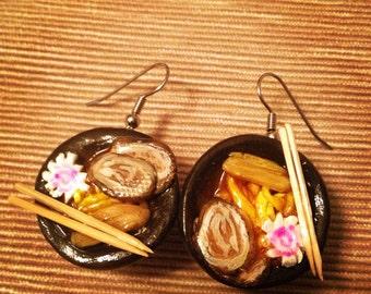 Delicious Handmade Ramen Bowl Earrings