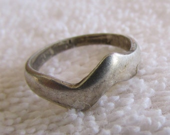 Sterling Silver Lightning Ring Size 5 1/4