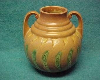 """Roseville Pottery Falline Brown Vase 647-7"""""""