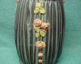 """Weller Pottery Blue Drapery Vase 12 1/2"""""""