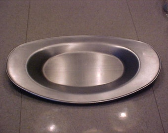 Revere Chrome Satin Tray Bread Norseman Oval Norman Bel Geddes