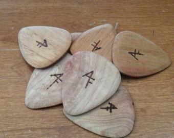 Wooden guitar picks