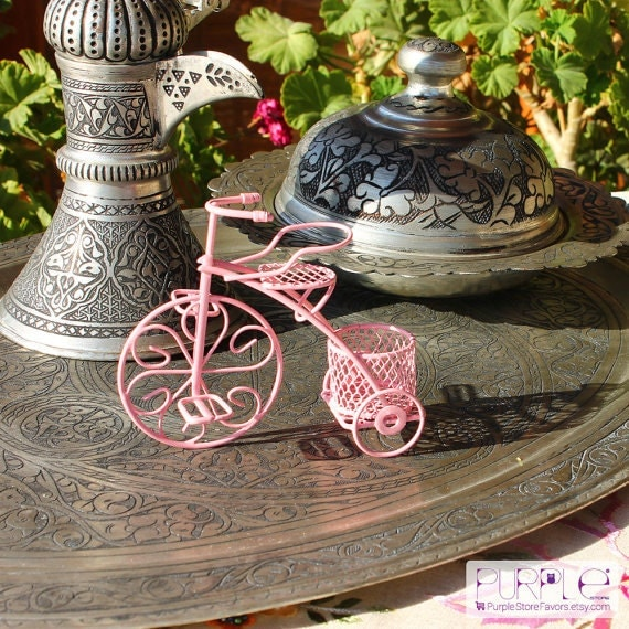 Items Similar To Pink Bicycle Baby Shower Favor Bike Wedding Favors Tricycle Wedding Decorations