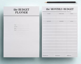 A5 Financial Planner Printable - Finance Organizer Set, 7 Budget Planning Pages including Savings Tracker & Debt Tracker, INSTANT DOWNLOAD