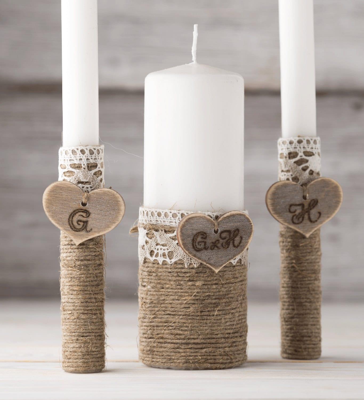 Personalized Unity Candle Set Wedding Unity Candles Unity