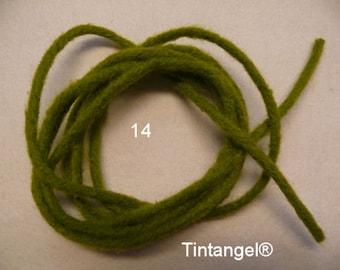 Stick Felt, moss-green, number 14, 2 meter, Thickness 4 mm, hard