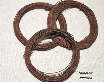 24 gauge Primitive Rusty Wire -- 90 feet of thin wire - easy to bend and cut