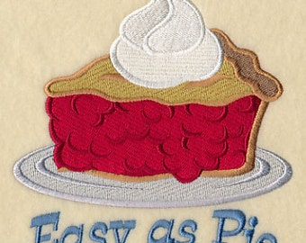 Easy as Pie Cherry Pie Embroidered Double Pocket Apron