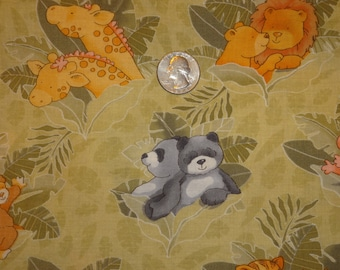 Fabric Peek A Boo Pair Cathy Heck Noahs Ark Zebra Giraffe Ducks by the yard BTY Quilting Cotton
