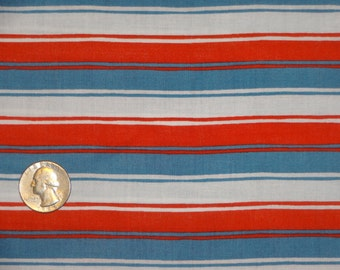 Horizontal Stripe in Red White Blue Patriotic fabric by JoAnn Cotton BTY by the yard