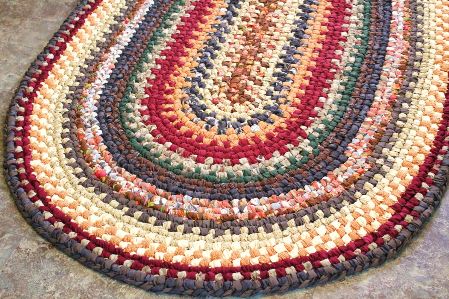 Braided Rag Rug Patterns.BRAIDED RUG For You To Make Pdf Pattern ...