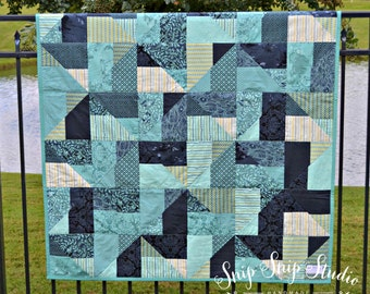 Quilt 00007 Nautical Lap Quilt