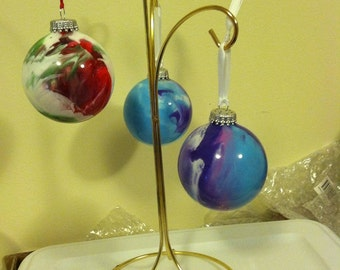 Painted Marble-Custom Glass Ornaments