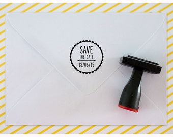 Custom rubber stamp // SAVE THE DATE !
