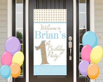 Twinkle Litte Star Party Birthday Door Banner  ~ Personalized Custom Party Banner - First Birthday Party Banner, Welcome to the Party Banner