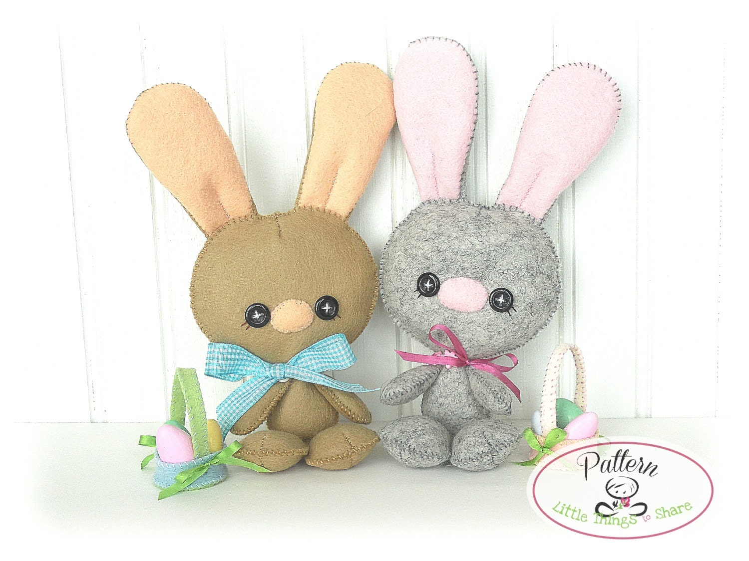 Baby bunny pdf pattern easter bunny sewing pattern cute rabbit for Bunny template for sewing