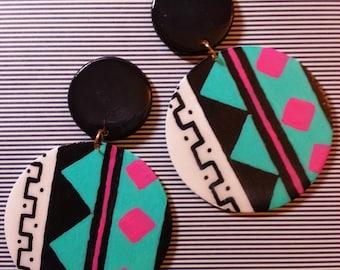 Tribal Art Earrings