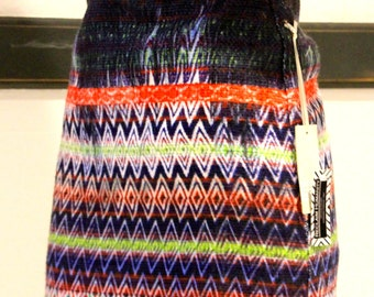 Multicolor Aztec Pattern Tribal Mini Skirt // Boho Chic Women's Clothing
