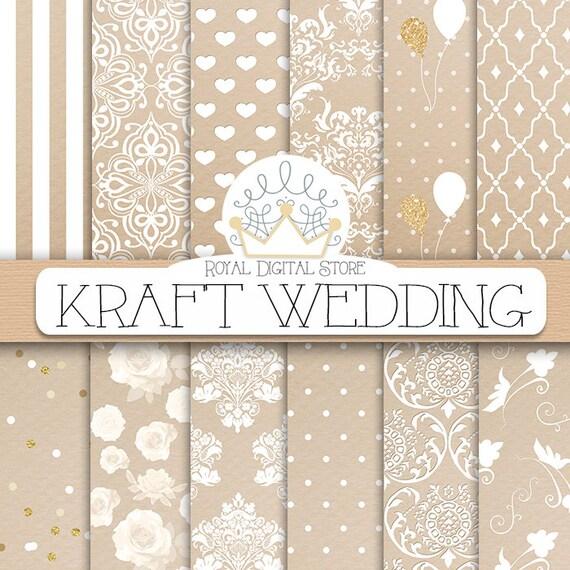 spesso Digitale carta Kraft: KRAFT WEDDING con carta ET05