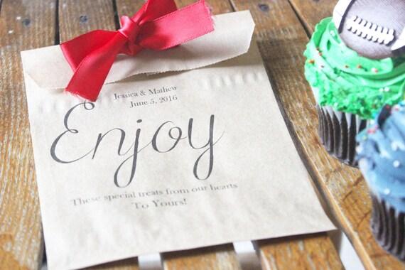Wedding Favor Donut Bags : bags, kraft favor bags, thank you favors, candy buffet, Wedding favors ...