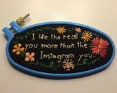 SALE Morley Embroidery Hoop Art