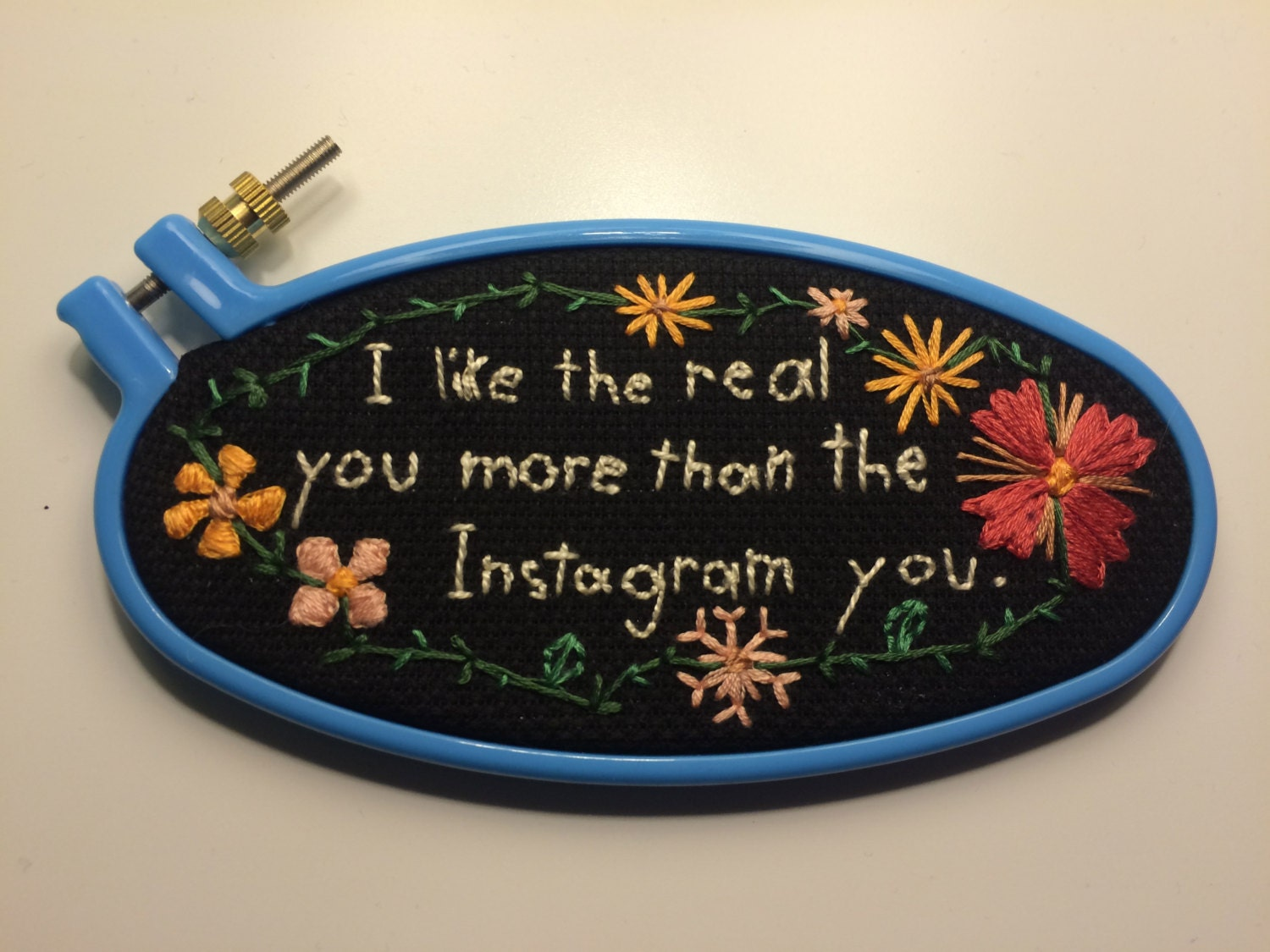 Morley embroidery hoop art by sabinathehuman on etsy