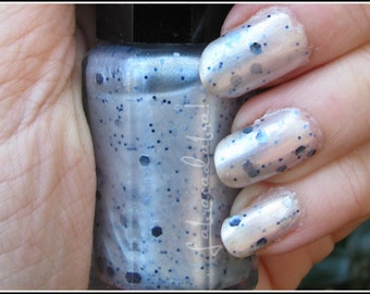 Let It Glow - Labracadabra White & Blue Glitter Nail Polish