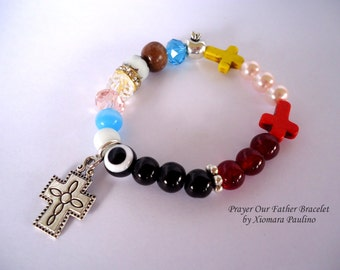 LORD'S Prayer Our Father Bracelet/ W/Note Card.